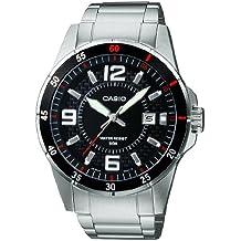 Casio Reloj Analógico para Hombre de Cuarzo con Correa en Acero Inoxidable MTP-1291D-