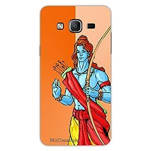 MiiCreations 3D Printed Back Cover for Samsung Galaxy On7,Shri Ram Ji