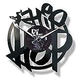 Disc'O'Clock Wanduhr aus Vinyl LP 33 Leise Hip Hop - Geschenkidee A Tema Rap/Hip Hop, Musik