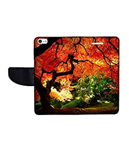 KolorEdge Printed Flip Cover For Apple IPhone 5 Multicolor - (43KeMLogo09116IPhone5)