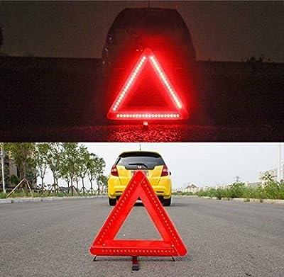 Faltbar Auto Notfall Warnung triangle-emergency Road Flasher, Universal Reflektierende Warndreieck Schilder mit LED-Lichtern