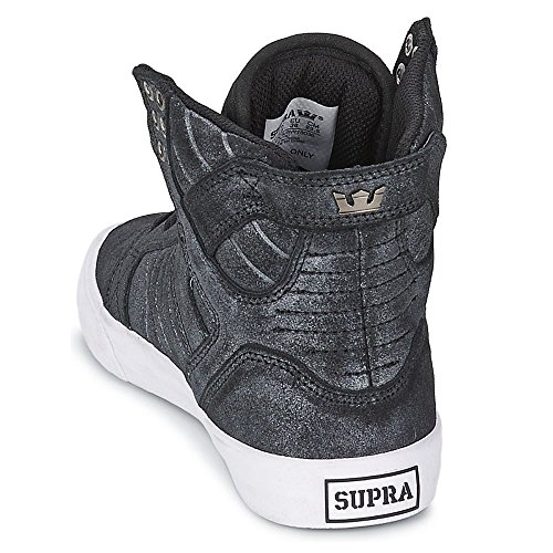 Supra - Womens Skytop, Alte Scarpe Da Ginnastica da donna Black