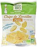 Jardin Bio Chips de Lentilles aux Petits Oignons sans Gluten 50 g - Lot de 3