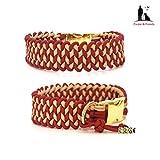 Paracord Halsband, Paracordhalsband, Hundehalsband, Halsband Paracord, wahlweise mit Gravur und Namensanhänger; Knitted