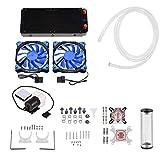 GOTOTOP Kit di Raffreddamento Acqua Computer,PC Ventola di Raffreddamento,CPU Cooler Sistema di Raffreddamento a Liquido