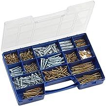 Schauben-Set und D/übelSet FUXXER/® D/übel-Sortiment in Sortier-Box 249-teilig Schrauben-Sortiment
