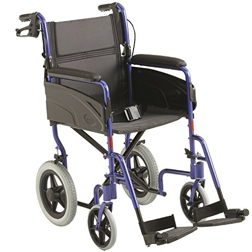 Invacare ligero aluminio transporte silla ruedas -