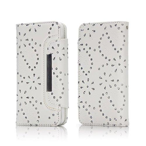 Ahorn Blätter Muster Magnetische Klappe Gürtelschnalle 2 in 1 Abnehmbare Tasche PU Leder Flip Stand Brieftasche Fall Deckung für iPhone 7 Plus ( Color : Rose ) White