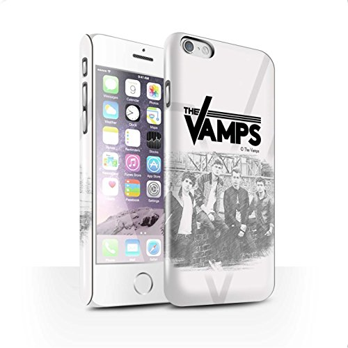 Offiziell The Vamps Hülle / Glanz Snap-On Case für Apple iPhone 6 / Pack 6pcs Muster / The Vamps Fotoshoot Kollektion Skizzieren
