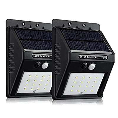[16 LED Upgraded Version] Solar Light, VicTsing Bright 16 LED Wireless Solar Powered Motion Sensor Light / Outdoor Waterproof Solar Energy Security Lighting Wall Light - 320 Lumens