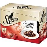 Sheba Cuisine Katzenfutter zarte Streifen in Sauce, 48 Beutel (48 x 85g), 1er Pack (1 x 4.08 kg)