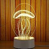 LED luce notturna cakus di La Notte tavolo lampada Baby bambini schlummer lampada luce 3colori DIMM Bar tavolo lampada meduse atmosfera luce atmosfera creativa tavolo lampada con spina Medusa