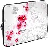 Sidorenko Tablet PC Tasche für 10-10.1 Zoll | Universal Tablet Schutzhülle | Hülle Sleeve Case Etui aus Neopren, Rosa/Weiß