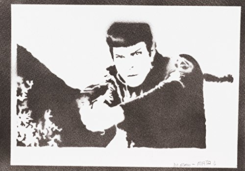 Spock STAR TREK Handmade Street Art - Artwork - Poster