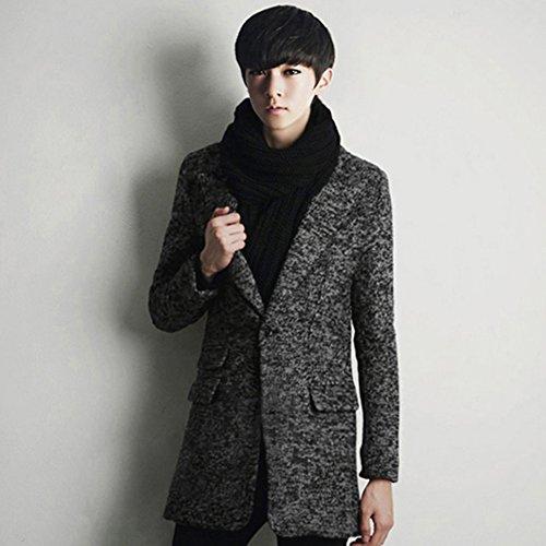 Zicac Herren Wintermantel Herren Winterjacke Herren Mantel Outwear Männer Mantel für Winter Herren Winterjacke Ideal für Winter 2 Farben auswählbar Grau