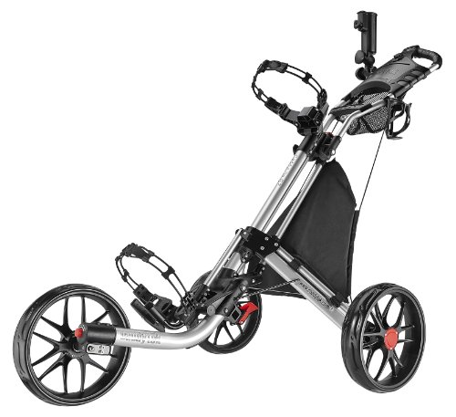 Caddytek EZ-Fold 3Roues Chariot de Golf, Silver