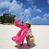 Bebé inflado nadar barco flotador anillo Floatie montar en Rideable soplar verano divertido piscina juguete flotador jerga para niños (Flamenco Pequeño)