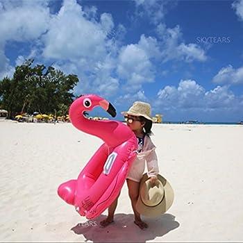 Baby Schwimmsitz Rosafarbener Flamingo Aufblasbar Kinder Schwimmring Einhorn Cartoon Aufblasbares Schwimmreifen Badespielzeug (Baby Schwimmring, Baby Flamingo) 0