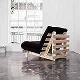 Structure futon en bois naturel 140x200