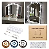 Vanity Mirror Lights Kits Hollywood Style LED Makeup Lights with 10 Dimmable Bulbs for Makeup Dressing Table with 5-Level Adjustable Brightness Touch Dimmer