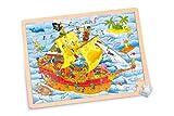 Goki 57831 - Einlegepuzzle - Piraten