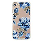 """Inonler Interesting garden blue rose Pattern soft and transparent case(iPhone 6S case, iPhone 6 case (4.7""""))"""
