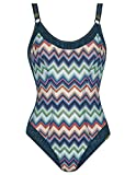 Sunflair 22325-3099 Women's New Missy Night Blue Multicolour Aztec Soft Support Low Back Swimsuit