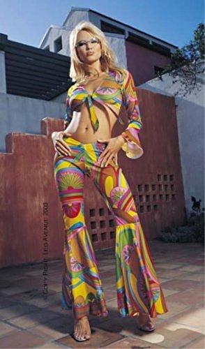Leg Avenue - 2-teilig Sixties Hippie Kostüm - Gr. M/L - 8649 (Kalifornien Kostüme)