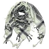 Superfreak® Palituch zweifarbig klassisch°PLO Schal°100x100 cm°Pali Palästinenser Arafat Tuch°100% Baumwolle, Farbe: grün-mintgrün/schwarz