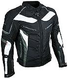 HEYBERRY Textil Motorrad Jacke Motorradjacke Schwarz Grau Gr. XL