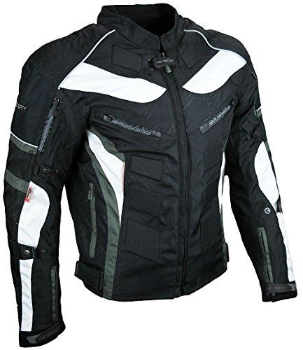 HEYBERRY Textil Motorrad Jacke Motorradjacke Schwarz Grau Gr. XXL