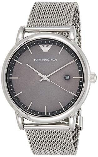 Emporio Armani Herren Analog Quarz Uhr mit Edelstahl Armband AR11069