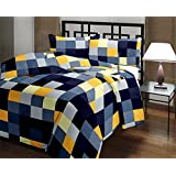 TRUSTFUL Cotton Super Soft Checked Design Print Single Bed Reversible AC Blanket | Dohar | Quilt | Comforter | Duvet (Polycotton, Multicolor)