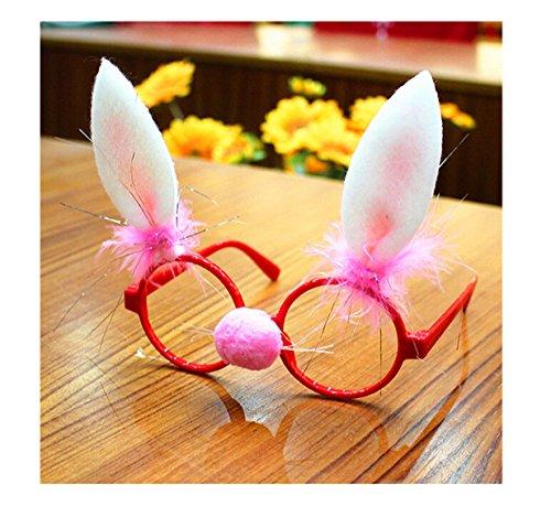 rty-Gläser Lustige Weihnachts Brillen Rahmen Stützen Weihnachts Schmuck Geschenke für Kinder und Erwachsene (Hasenohren) (Niedliche Und Lustige Halloween-kostüme)