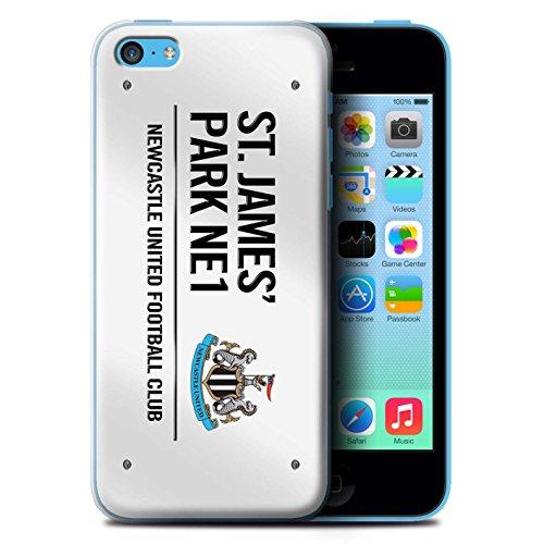 Offiziell Newcastle United FC Hülle / Case für Apple iPhone 5C / Schwarz/Weiß Muster / St James Park Zeichen Kollektion Weiß/Schwarz