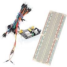 Neuftech MB 102 Breadboard Kit - 830 Breadboard/Steckbrett + Netzteil Adapter 3,3V 5V + 65pcs Steckbrücken für Arduino