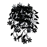 Beautiful Black Floral Flowers And Leaves Dropping Chandelier Ceiling Pendant Light Shade