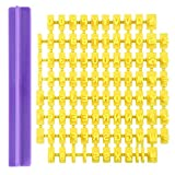 SDGDFXCHN Molde de plástico para tartas con número de alfabeto para sello de prensa, galletas y moldes de molde para decorar, plástico, amarillo, 9x8cm