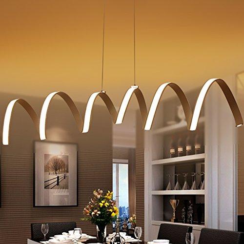 Arte posmoderno llevado hotel bar restaurante iluminación diseñador ropa tienda muestra habitación dormitorio luz de la lámpara, inducción media (?24 * L100 * H120) 40W