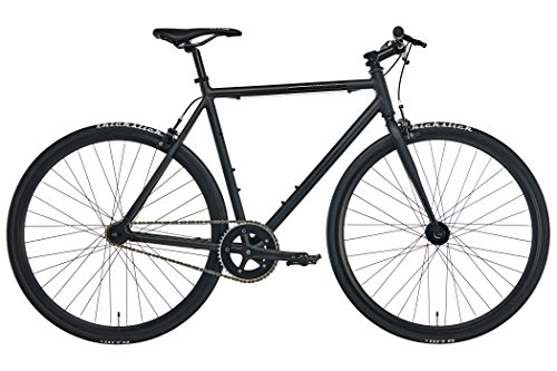 Fixie Urban-Bike Blackheath Black 2018 ist EIN leichtes City-Rad in Matt-Schwarz | Cooles Fixed-Gear Fahrrad mit 28-Zoll Reifen (Wie Um Eine Stadt Zu Bauen)