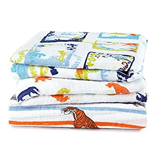 aden + anais Disney Baby classic Musy (The Jungle Book, Pack of 3)