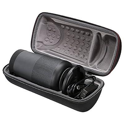 XANAD Cas pour Bose SoundLink Revolve+ Plus Haut-Parleur Bluetooth Sac Portable Hard EVA Housse de Transport, Compatible avec Câble et Chargeur de XANAD