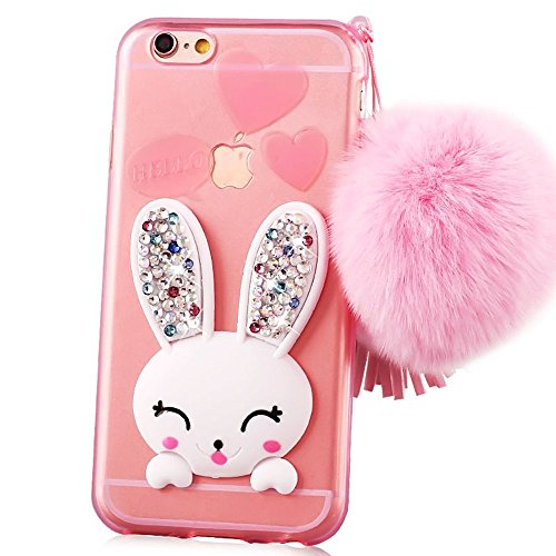 sunroyalr-iphone-6-6s-coque-transparente-3d-lapin-case-silicone-bunny-souple-tpu-cover-avec-fonction