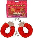 Top Qualität Hen Party Zubehör–Hen Party Dekoration Staubbeutel Spiele Kostüme, durch Lizzy Furry Love Handcuff - Red