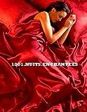 1001 NUITS ENCHANTEES Parure de Lit Satin Rouge 6 pcs Housse de Couette 220x230 Taies Drap Housse 150X200CM
