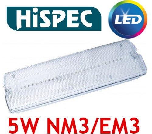Hispec IP65 5 W LED Notfallleuchte Universal nicht oder gewartet EM3 NM3