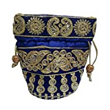 KIKS Silk Potli Jewellery Bag Clutch Pur...