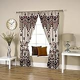 Threadmix Brown Polyester Window Curtain...
