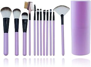 Makeup Brushes Start Makers 12 Pcs Makeup Brush Set with Makeup Case Holder Foundation Blending Blush Eyeliner Powder Brush
