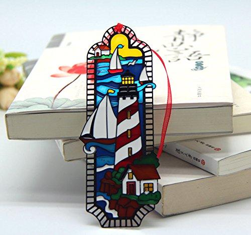 acever-bemaltes-metall-lesezeichen-mit-von-hand-kunstdruck-auf-glas-tiffany-leuchtturm